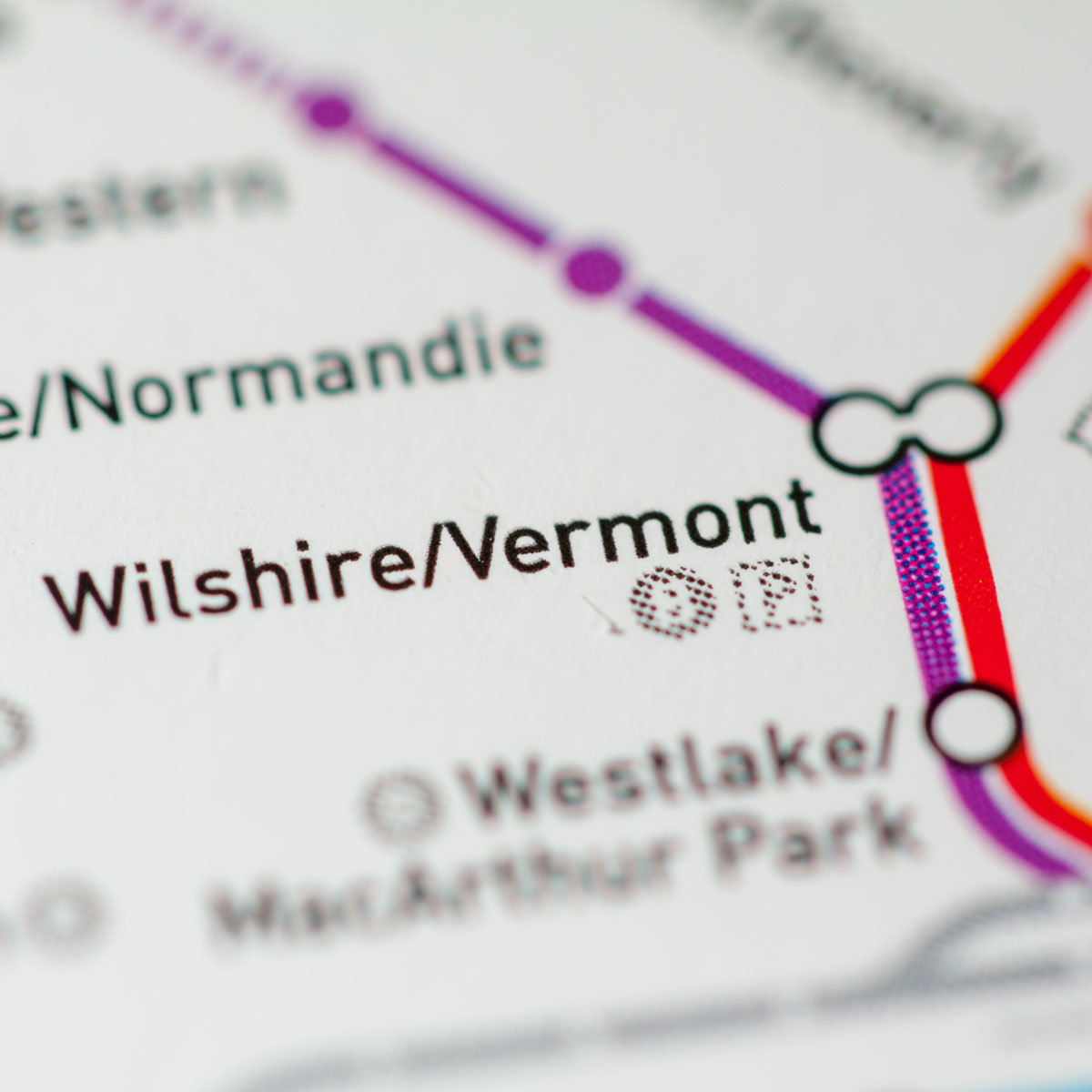 Map of Wilshire/Vermont Transit Station